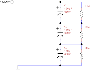 Our 1200V, Three Capacitor Circuit