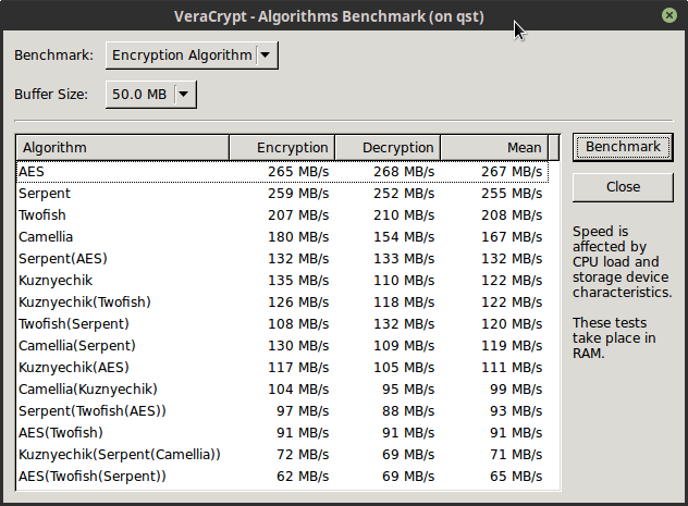 VeraCrypt / Forums / General Discussion:Real-world benchmark